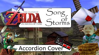 The Legend of Zelda Ocarina of Time - Song of Storms (Accordion solo)