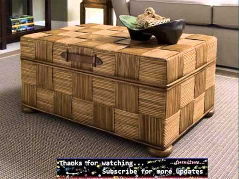 Wicker Trunk Coffee Table | Wicker Furniture Ideas - YouTube
