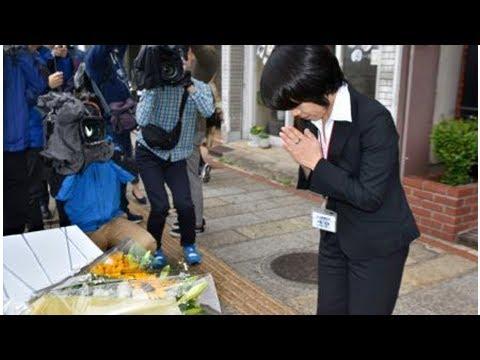 長崎市長射殺事件11年で献花台 - YouTube