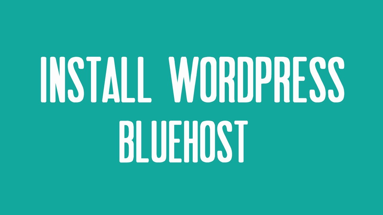 bluehost uninstall wordpress