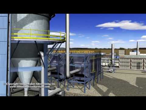 Oil Shale Extraction Facility - Educational 3D Animated Video