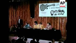 Monkees arrive in Britain - 1967 - excellent press conference footage