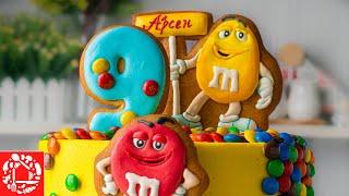ТОРТ с M M s без мастики Торт с пряниками M M s Украшение торта ребенку на День Рождения