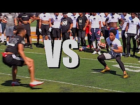 🔥🔥 WR vs DB - 1v1s - Nike Football Opening Regionals | Oakland, CA | 2017
