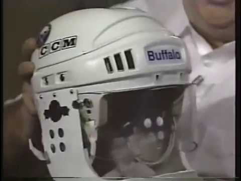 1991 Buffalo Sabres Hockey Open (Pat LaFontaine Jaw fracture helmets)