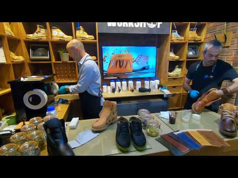 Stahl Shoe Finish & Leather Care at the Timberland store in