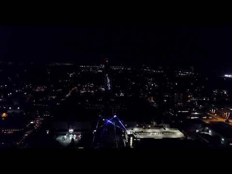 Drone Footage: Laser Show at Nebraska State Capitol