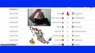 Pronosticos De La Jornada15 Del Clausura 2018 de la liga mexicana