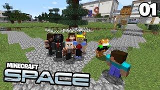Die GRÖßTE STADT DER WELT 🌌 Minecraft Space #01 | Clym