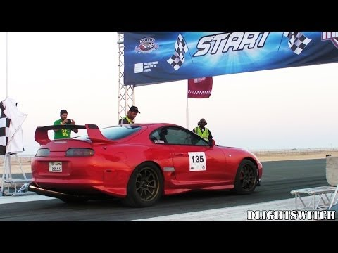 Qatar Mile - Burnouts, Accelerations, Top Speed & Great Sounds!