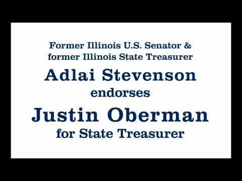 Adlai Stevenson endorses Justin Oberman for Illinois State Treasurer