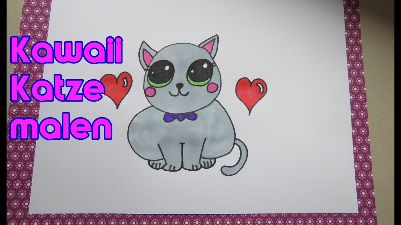 Kawaii Süße Katze Malen How To Draw Cute Cat