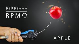 We Spin Apple At Crazy Speed 100000 RPM - इस सेब ने तो होश उड़ा दिये