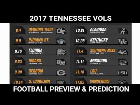 2017 Tennessee Vols Football Season Preview