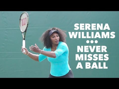 SERENA WILLIAMS • WIMBLEDON CHAMPION • DRILLS & COMPLETE TRAINING SESSION