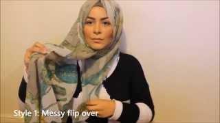 Habiba Da Silva: Signature Hijab Style in 6 different ways