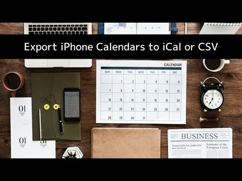 How to Export iPhone or iPad Calendars to iCal, Excel or CSV