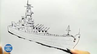 """How to Draw """"WARSHIP"""" a Cartoon for kids - Drawing doodle art"""