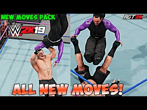 AGT - WWE 2K19   NEW MOVES PACK DLC - ALL New Moves & Taunts! (OVER 50 NEW MOVES!)