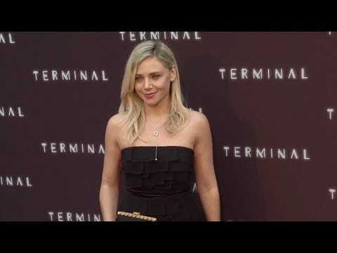 Katarina Cas on the red carpet for the premiere of Terminal at ArcLight Cinemas in LA