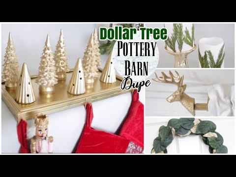 Dollar Tree Pottery Barn Dupes | DIY Christmas Decor