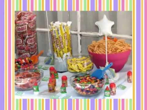 Mesa buffete de dulces snacks tamarindos dulces for Decoracion de mesas dulces infantiles