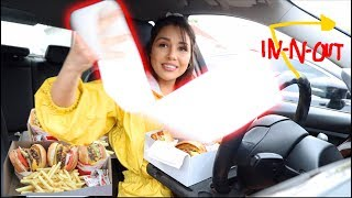 LETTING THE PERSON IN FRONT OF ME DECIDE WHAT I EAT FAIL W/ MY SISTER (IN-N-OUT MUKBANG)
