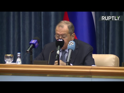Conférence de presse de Sergueï Lavrov et de son homologue qatari Al Thani