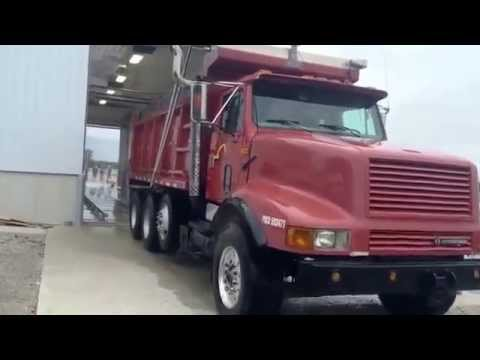 Touchless 2 Step Bio Security Automatic Truck Wash   Red Dump Truck