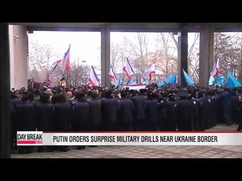 Putin orders surprise military exercises near Ukraine border