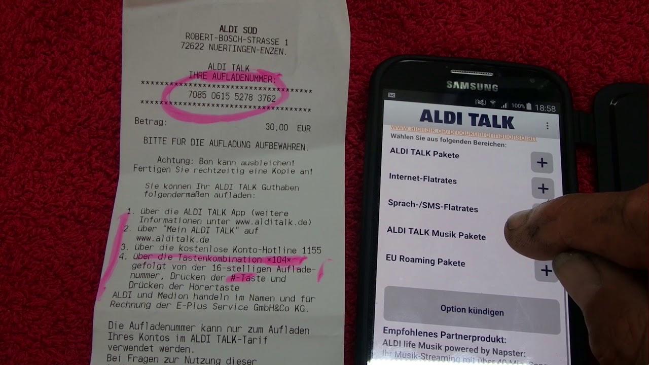 aldi karte aufladen ☎   Aldi App installieren und Tarif und Guthaben besser verwalten