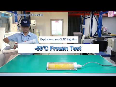 Explosion-proof LED Lighting -50℃ Frozen Test in 90 Days! (Low Temperature Resistant Challenge)