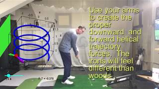 Creating proper downswing forces for maximum distance.