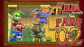 The Legend of Zelda: Triforce Heroes | Part 2 - Buzz Blob Cave & Moblin Base