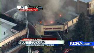 Stores On Fire In Citrus Heights
