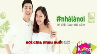 [Karaoke] Nhà là nơi - Noo Phước Thịnh ft Văn Mai Hương (Beat HD by Việt kara)
