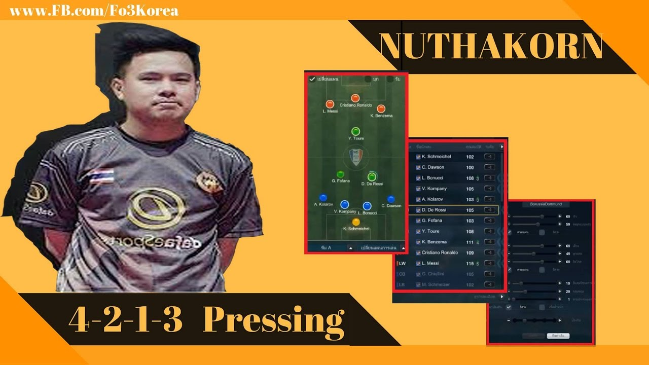 """[ Fo3Korea ] - """"Nuttha - Xoay"""" ông trùm ban bật và đánh trung lộ Fifa Online 3 ThaiLand 2017"""