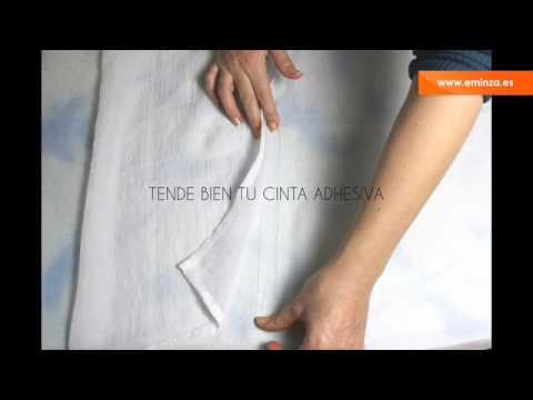 Acorta tus cortinas con cinta adhesiva youtube - Dobladillo cortinas ...