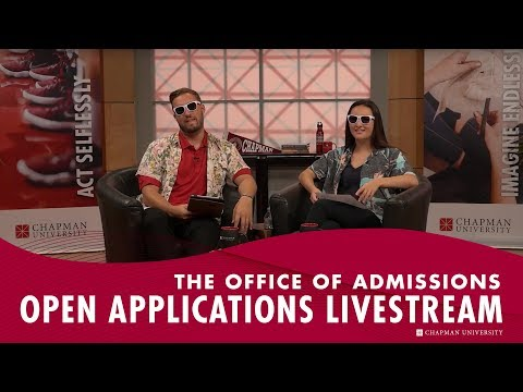 The Office Of Admissions Open Applications Livestream
