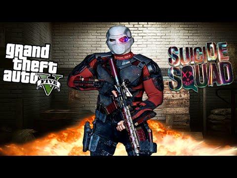GTA 5 Mods - DEADSHOT SUICIDE SQUAD MOD! (GTA 5 Mods Gameplay)