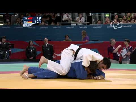 Judo - TUR versus GER - Men -73 kg Preliminary Round of 16  - London 2012 Paralympic Games