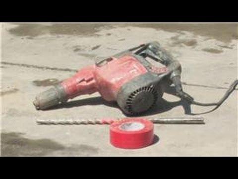 Concrete & Masonry : How to Drill Into Concrete