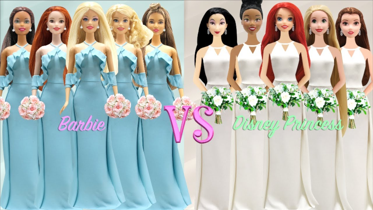 Disney Princesses Vs Barbie Dolls