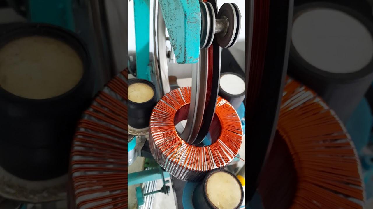 toroidal winding machine part 4 || winding toroidal 600 watt 0-60v