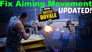 How to Fix Aiming , ADS & Scope Sensitivity / Movement in Fortnite Battle Royale (Newest Patch)