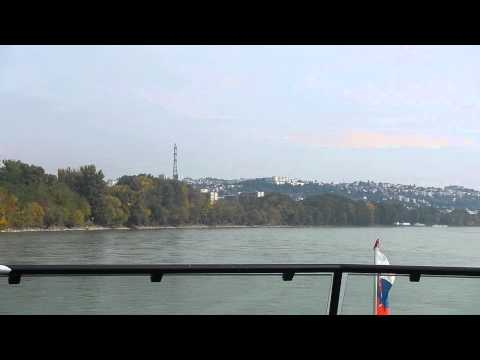 Approaching Bratislava on the Danube River aboard the MS Kaiserin Elisabeth II
