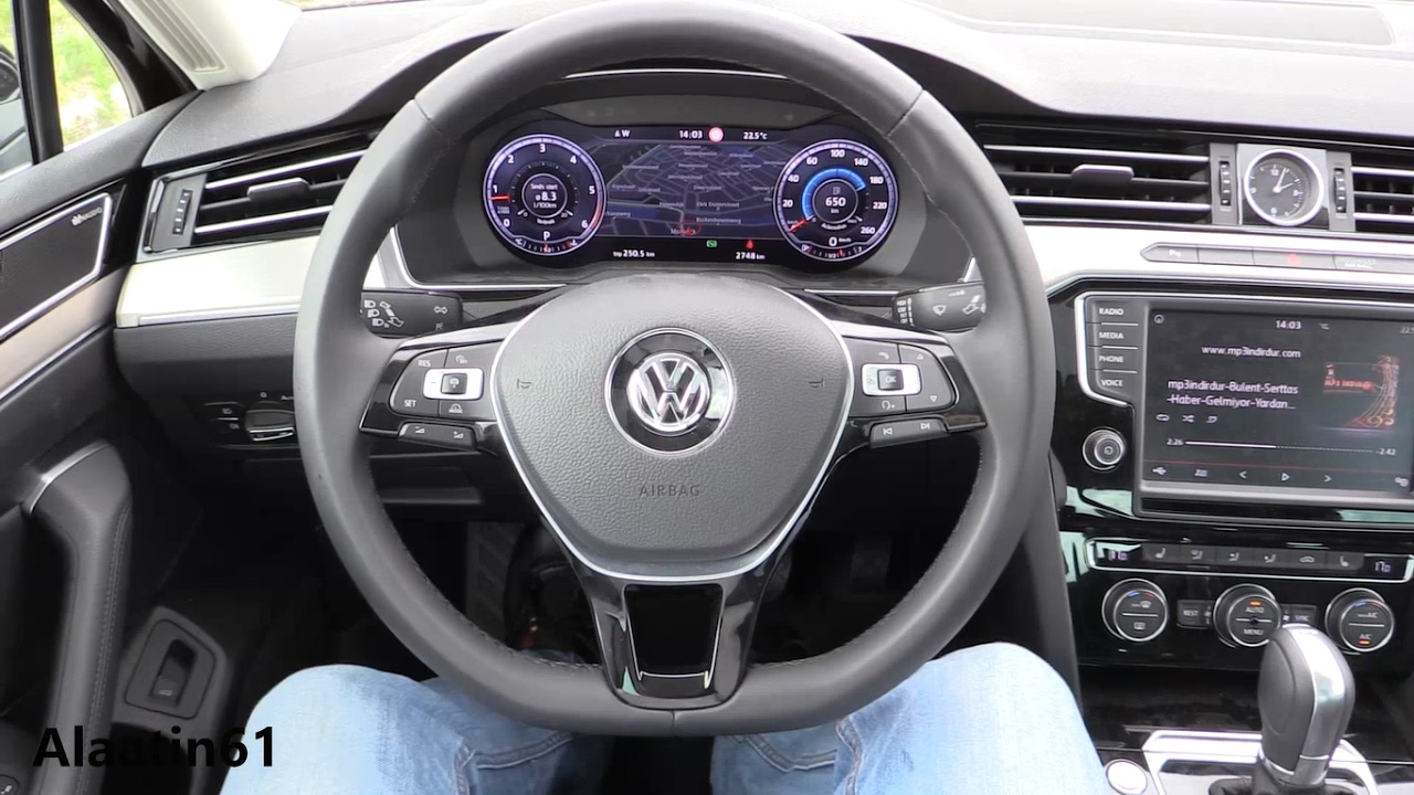 Volkswagen Passat 2017 interior Review, Test Drive - YouTube