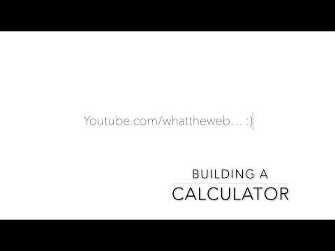 How To Code A Calculator In ONE Video (HTML, CSS, Javascript)