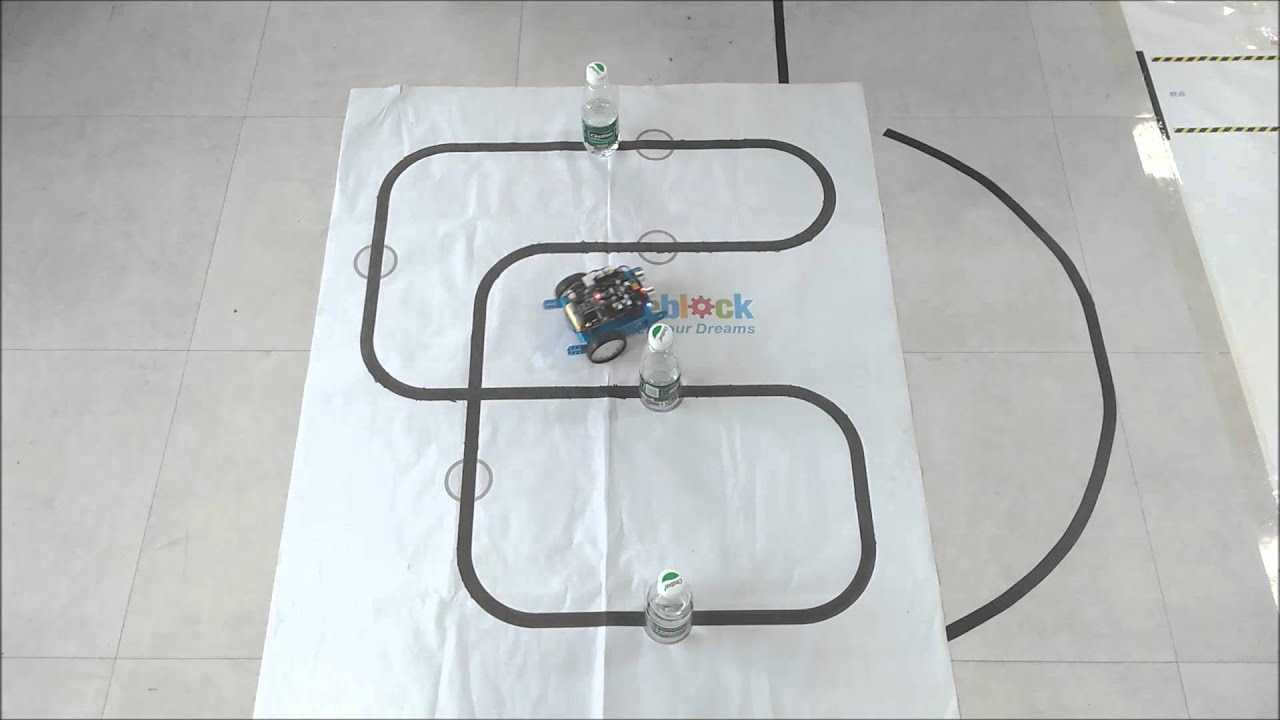 2-in-1 mbot  line follower and object avoidance