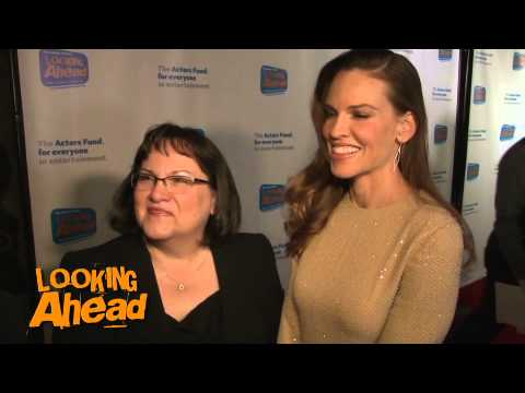 Hilary Swank and Judy Swank Red Carpet Interview - 2014 Looking Ahead Awards